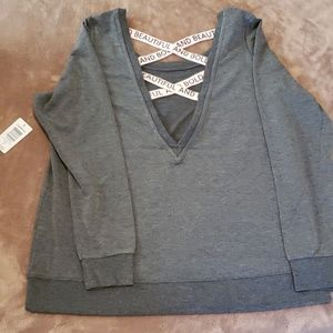 Torrid sweatshirt w/strappy back verbiage